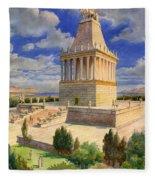 The Mausoleum At Halicarnassus Fleece Blanket