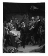 The Mayflower Compact, 1620 Fleece Blanket
