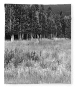 The Meadow Black And White Fleece Blanket