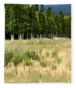The Meadow Digital Art Fleece Blanket