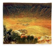 The Meteor Crater In Az 1 Fleece Blanket