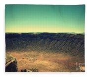 The Meteor Crater In Az 4 Fleece Blanket