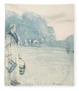 The Milkmaid Fleece Blanket