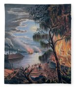 The Mississippi In Time Of War Fleece Blanket