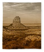 The Mittens At Monument Valley Fleece Blanket