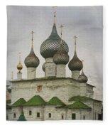 The Monastery Of The Resurrection. Uglich Russia Fleece Blanket