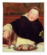 The Monk's Repast Fleece Blanket