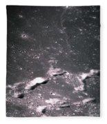 The Moon From Apollo 14 Fleece Blanket