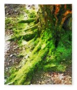 The Moss Covered Roots Fleece Blanket