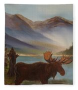 The Mountain Moose Fleece Blanket