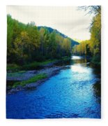 The Moyie River Near Yak B C Fleece Blanket