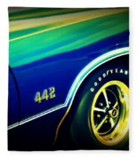 The Muscle Car Oldsmobile 442 Fleece Blanket