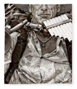 The Music Man - Monochrome Fleece Blanket