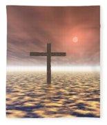 The Mystery Of The Cross Fleece Blanket