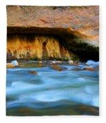 The Narrows Virgin River Zion 4 Fleece Blanket