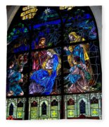 The Nativity Stained Glass Fleece Blanket