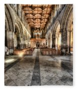 The Nave At St Davids Cathedral 3 Fleece Blanket