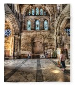 The Nave At St Davids Cathedral 5 Fleece Blanket