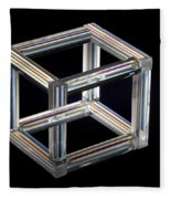 The Necker Cube Fleece Blanket