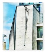 The Noon Sundial At The London Stock Exchange Fleece Blanket