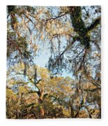 The Oaks Of City Park Fleece Blanket