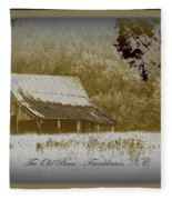 The Old Barn - Franklinton N.c. Fleece Blanket