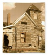 The Old Church At Shellpile  Fleece Blanket