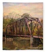 The Old Iron Bridge Fleece Blanket