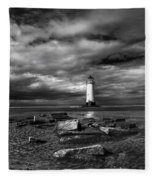 The Old Lighthouse  Fleece Blanket