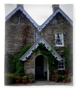 The Old Rectory At St. Juliot Fleece Blanket