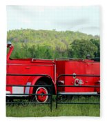 The Old Red Fire Engine Fleece Blanket