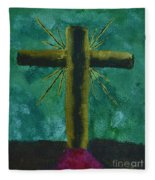 The Old Rugged Cross Fleece Blanket