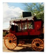 The Old Stage Coach Fleece Blanket