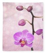 The Orchid Tree - Texture Fleece Blanket