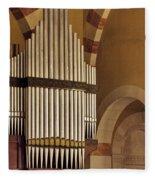 the Organ Augusta Victoria Jerusalem Fleece Blanket