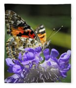 The Painted Lady Butterfly  Fleece Blanket