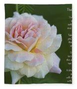 The Peace Rose Fleece Blanket
