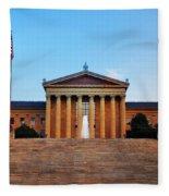 The Philadelphia Museum Of Art Front View Fleece Blanket