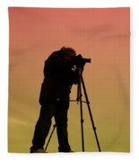 The Photographer Fleece Blanket