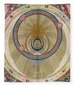 The Planisphere Of Brahe Harmonia Fleece Blanket