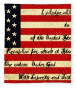 The Pledge Of Allegiance Fleece Blanket