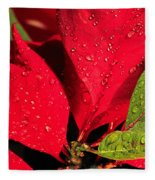 The Poinsettia Fleece Blanket