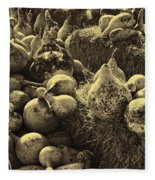 The Produce Of The Earth In Sepia Fleece Blanket
