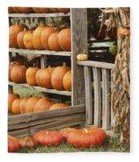 The Pumpkin Shack At Isom's Orchard Fleece Blanket