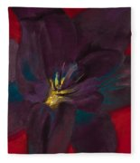 The Purple Lily Fleece Blanket