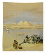 The Pyramids At Giza Near Cairo Fleece Blanket