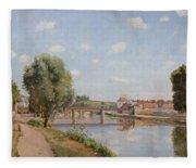 The Railway Bridge Fleece Blanket