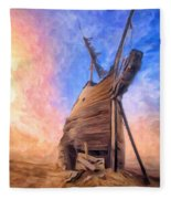 The Ravages Of Time Fleece Blanket