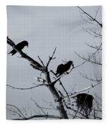 The Raven Tree Fleece Blanket