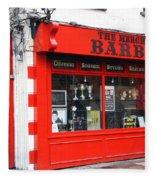 The Red Barber Shop Fleece Blanket